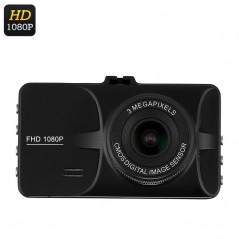 1080P Car Dash Camera - 3 Inch Display, 12Mp, Micro SD, Microphone