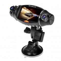 R310 Dual Lens Car Dash Camera - GPS Logger, G-Sensor, Wide Angle Lens, Loop Recording