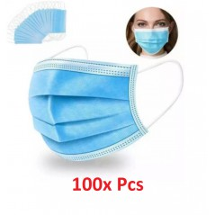 100x Disposable Surgical Face Mask MMM007