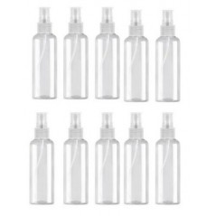 10x 100ml Empty Refillable Plastic Pump Spray Bottle Travel Perfume Atomiser