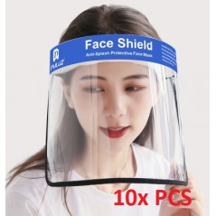 10x Face Shield Anti-Saliva Splash Anti-Spitting Anti-Fog Anti-Oil Transparent Mask