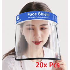 20x Face Shield Anti-Saliva Splash Anti-Spitting Anti-Fog Anti-Oil Transparent Mask Face Shield