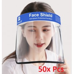 50x Face Shield Anti-Saliva Splash Anti-Spitting Anti-Fog Anti-Oil Transparent Mask Face Shield