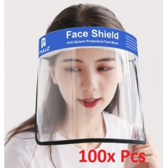 100x Face Shield Anti-Saliva Splash Anti-Spitting Anti-Fog Anti-Oil Transparent Mask Face Shield
