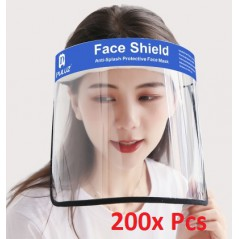 200x Face Shield Anti-Saliva Splash Anti-Spitting Anti-Fog Anti-Oil Transparent Mask Face Shield