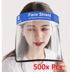 500x Face Shield Anti-Saliva Splash Anti-Spitting Anti-Fog Anti-Oil Transparent Mask Face Shield