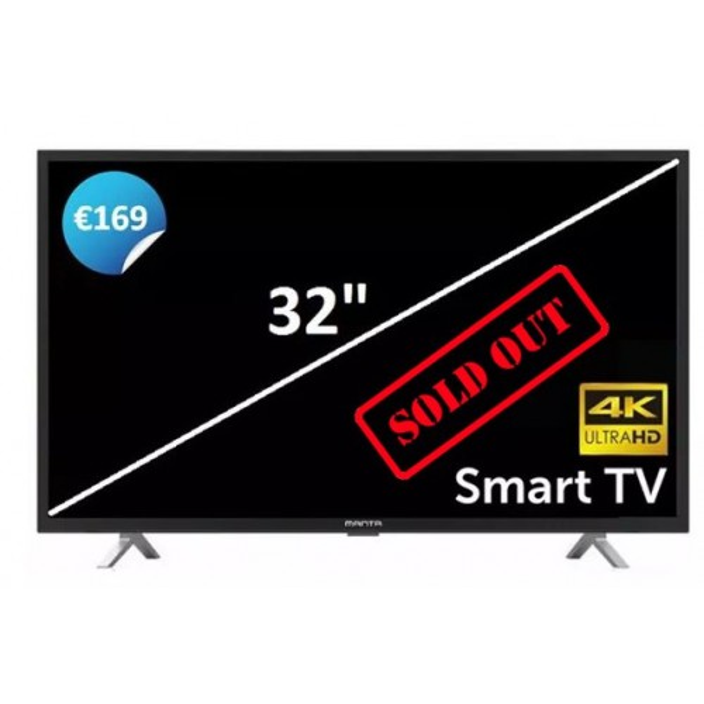 Manta 32 Inch 4K Smart Ultra HD TV