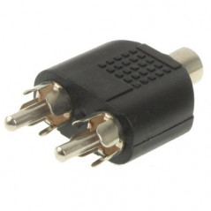 RCA Female to 2 RCA Male Adapter
