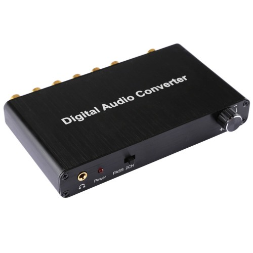 2CH Digital Audio Decoder Converter with Optical Toslink SPDIF Coaxial for Home Theater  PS4  PS3  XBOX360