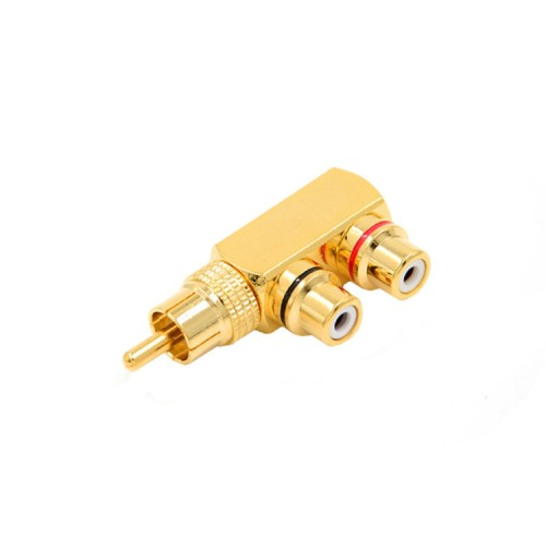 Gold-plated Pure Copper RCA Revolution 2 Female Lotus Audio And Video AV Adapter