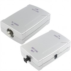 Coaxial to Toslink  Audio Signal Converter ( Coaxial in, Toslink out)
