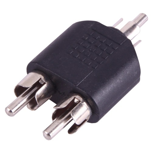 RCA Male to 2 RCA Male Adapter