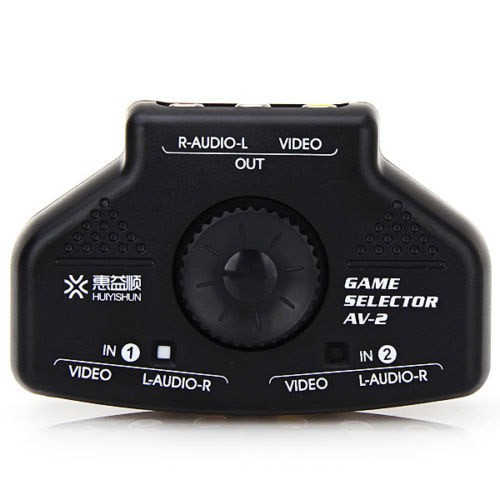 AV-2 Multi Box RCA Device TV Video Extender Switch Selector+ 3RCA Cable,